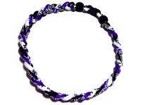 Triple Titanium Necklace (Purple/Black/White)