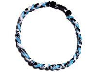 Triple Titanium Necklace (Light Blue/Black/White)