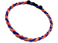 Double Titanium Necklace (Blue/Orange)
