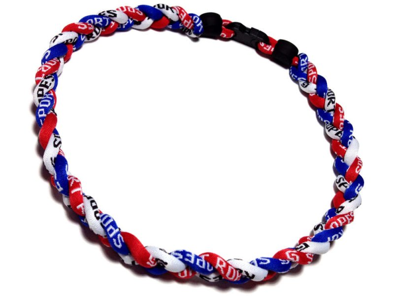 Triple Titanium Necklace (Red/White/Blue) - Click Image to Close
