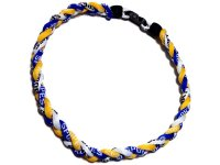 Triple Titanium Necklace (Blue/Yellow/White)