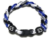 Triple Titanium Bracelet (Blue/Black/White)
