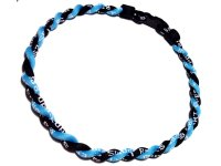 Double Titanium Necklace (Light Blue/Black)