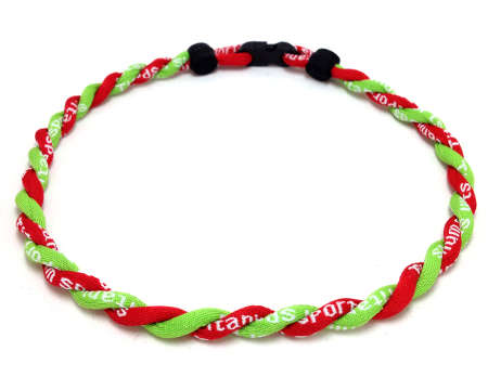Double Titanium Necklace (Lime/Red)