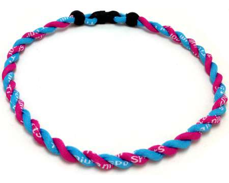 Double Titanium Necklace (Pink/Light Blue)