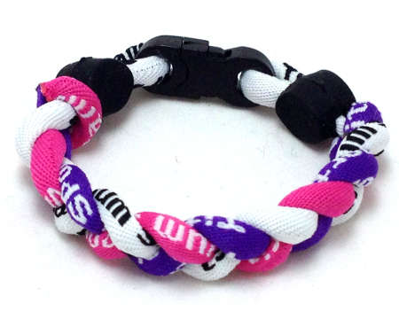 Triple Titanium Bracelet (Pink/Purple/White)